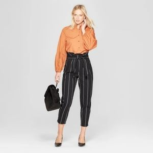 Long Sleeve Button-Up Blouse - Who What Wear